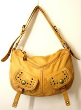 MARC JACOBS STUD SOFT TAN BROWN GENUINE LEATHER HOBO SHOULDER BAG HANDBAG PURSE