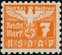 Stamp Germany Revenue Parteitag WWII 1935 3rd Reich War Era Party Due 007 MNG