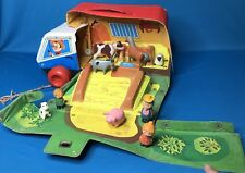 Vintage Ideal Pull Toy Animal Transport Case 1971 Farm Truck Complete