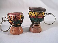 Set of 2 Djembe Drum Key-Chains-Collectibles-Ghana