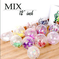 "12"" Clear Confetti Filled Balloons Birthday Parties Wedding Decorations Girl/Boy"