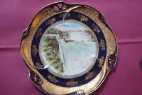Prospect Point Niagara Falls plate decorated with gold trim[#1]