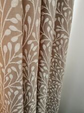 Neutral Taupe Cream Curtains Floor Length. Fully Lined. Very Good Condition.