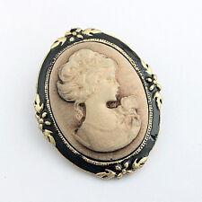 Women's Vintage Cameo Elegant Brooch Pin Antique Wedding Portrait Brooch  TOCA
