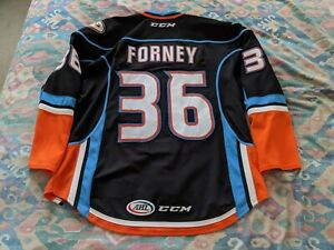 San Diego Gulls Chris Forney game worn 2017-18 black jersey 56