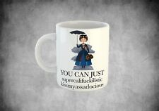 Mary Poppins funny coffee cup mug secret santa gift stocking filler swearing