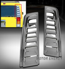 03-09 HUMMER H2 SUV REAR TAIL LIGHT LAMP VENT COVER BEZEL TRIM CHROME LEFT+RIGHT