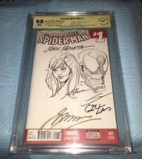 AMAZING SPIDER-MAN 1 BLANK 9.8 O/A JOHN ROMITA SR & CONWAY + HANNA + SANDOVAL !+ Comic Art