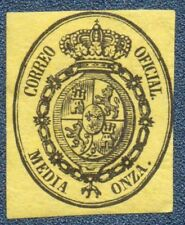 SPAIN  1855  Official   1/2 Onza  Unused (800)