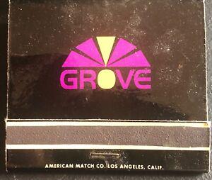 ~The now 'GROVE' @ Ambassador Hotel,  Los Angeles, CA, Full Matchbook