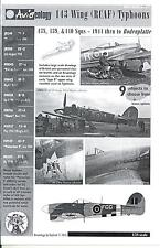 Aviaeology Decals 1/24 HAWKER TYPHOON (RCAF) 143 WING 1944 to Bodenplatte Part 1