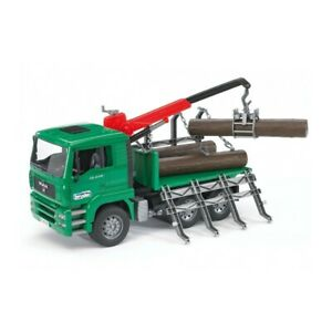 Bruder 1/16 MAN TGA Timber Truck w/ Loading Crane & Trunk BR02769