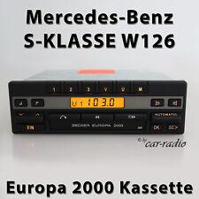 Becker Europe 2000 BE1100 Kassettenradio Mercedes W126 Radio S-CLASS Car Radio