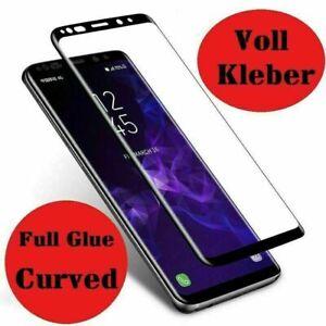 Voll Kleber Panzerfolie Samsung Galaxy S8 S9 S10 + Full 9H Display Schutzglas