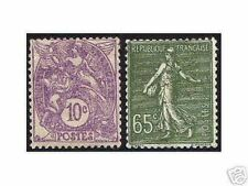 """FRANCE STAMP TIMBRE YVERT N° 233 / 234 """" BLANC 10c SEMEUSE 65c """" NEUFS xx LUXE"""