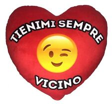 + CUORE FACCINA EMOTICON IN PELUCHE REGALO SAN VALENTINO TI AMO LOVE YOU SMAILE