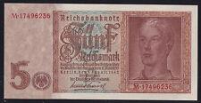 5 Reichsmark 1.8.1942 - Hitlerjunge - Serie M, KN 8-stellig (Ro.DEU-220b)²