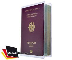 Reisepass Hülle ePass Etui Schutzhülle klar transparent NEU Made in GER Mappe 1A