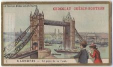 London Bridge England c1900 Trade Ad  Card