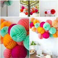 5Pcs Tissue Honeycomb Paper Pompom Pom Poms Hanging Garland Wedding Party Decor