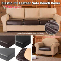 Elastic PU Leather Sofa Cushion Slipcovers Waterproof Couch Cover Seat Protector