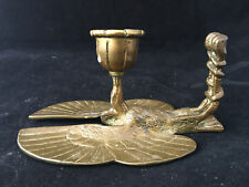 Bougeoir Bonze Doré Napoléon III  XIX Candlestick Antique French Oiseau