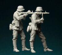 1/35 Resin Figure Model Kit German Soldiers Machine Gunners WWII Unpainted