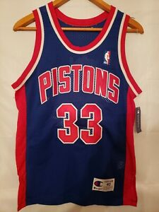 100% Authentic Grant Hill Vintage Champion Pistons NBA Jersey Size 40 M Mens New