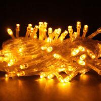 10M 100 LED Christmas Tree Fairy String  Lights Lamp Xmas Waterproof Yellow D11