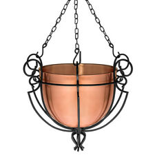 GAR254 H Potter Hanging Patio Garden Planter Basket Metal Outdoor Decor Accent