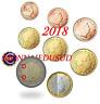Série 1 Cent à 2 Euro Luxembourg 2018 - Série UNC avec Poinçon Roude Léiw