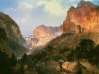 Yellowstone National Park Thomas Moran Fine Art Print on Canvas Repro Giclee SM