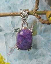 Colgante Charoita Púrpura Piedra Siberiano traumstein Plata Esterlina 925