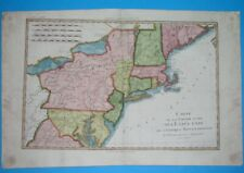 1780 ORIGINAL MAP UNITED STATES NEW YORK MASSACHUSETTS PENNSYLVANIA NEW JERSEY