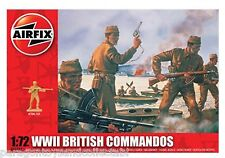 AIRFIX SCALE 1:72 TOY SOLDIERS - WWII British Commandos - A01732 - New in Box