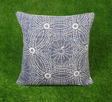 Dari Cushion Cover Handmade Cotton Blue Floral Pillow Cover Throw Home Decor
