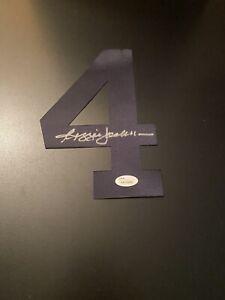 Yankees REGGIE JACKSON Signed Autographed baseball Jersey Number JSA