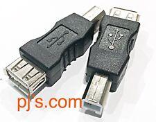 USB 2.0 Type A Female to B Male Adaptor x 1pc