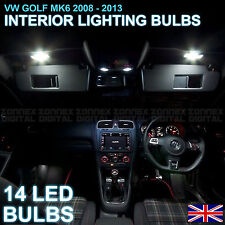 VW GOLF VI MK 6 ERROR FREE - INTERIOR CAR LED LIGHTS BULB KIT - XENON WHITE