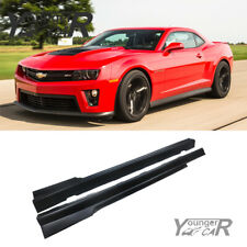 Side Skirts for 10-15 Chevy Chevrolet Camaro Zl1 Style Door Rocker Panels Lip