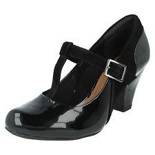 16c0b9c1c6b55 Clarks Coolest Lass Black Combi Ladies HEELS Various Sizes 4 UK D   37 EU