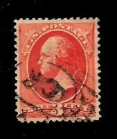 US 1887 Sc#214  3 c  Washington - Used - Centered - Crisp Color