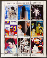 TURKMENISTAN Famous People  Beautiful Mint NEVER  Hinged  1998 Sheet   UPTOWN