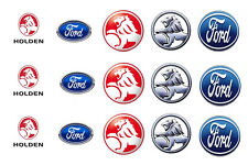 15 x Ford and Holden Bottle Cap Logo Images for Necklaces, Magnets