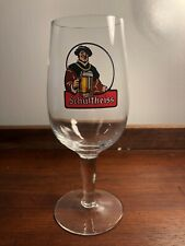 Schultheiss Bier German Logo 0.2L Pedestal Beer Glass Germany Barware Vtg