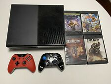 USED Xbox One Original 500GB Console - 4 Games - 2 Controllers READ DESCRIPTION