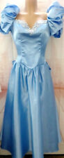 Eve of Milady Vintage Blue Cinderella Taffeta Formal Bow Puff Prom Party Dress12