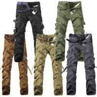 Mens Military Camou Casual Pants Combat Tactical Army Cargo Cotton Trousers Lot