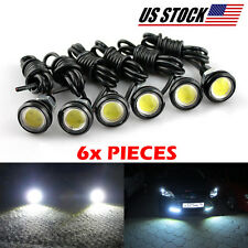 6 LED Bright Xenon White Bolt Lamps For Parking Fog Day Time Backup Light Tuning