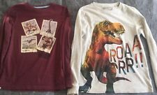 Next 2 Pack Dinosaur T-Rex T-shirt Top Long Sleeve  size 11 yrs  USED